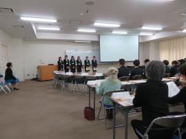 ノートルダム清心女子大学シグマソサエティ部員の発表