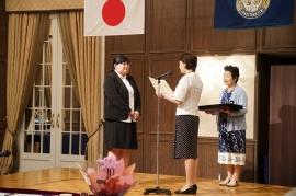 岡山大学留学生へ贈呈