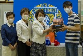 竹本会長・垪和副会長・上杉理事と「いち・にのさん」福島サービス管理責任者