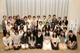 上村先生、出場者とSI岡山会員