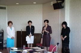 中島俊子新会員の挨拶
