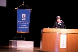 国際ソロプチミストアメリカ理事良本淑子氏