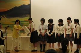 グループ最優秀賞の授与式